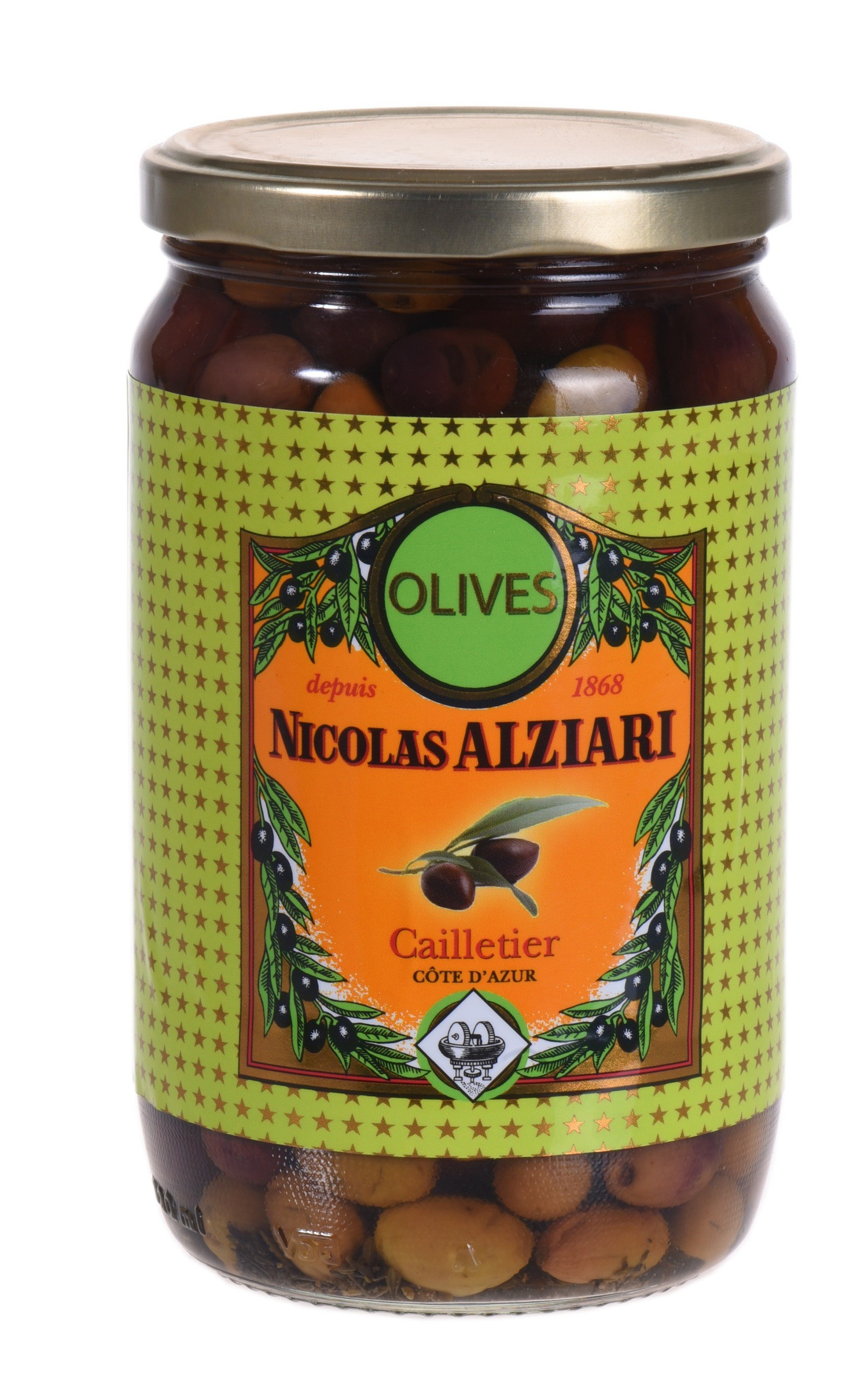 "jar of ""cailletier olives"" 480 gr"