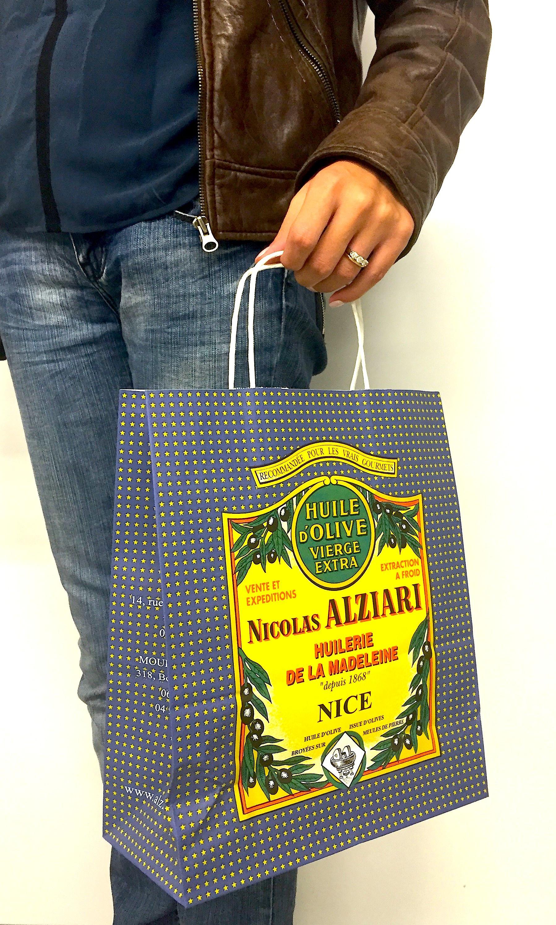 Brown paper Nicolas Alziari 1868