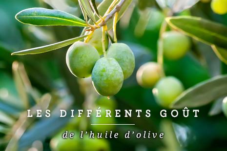Les différents  goût de l'huile d'olive