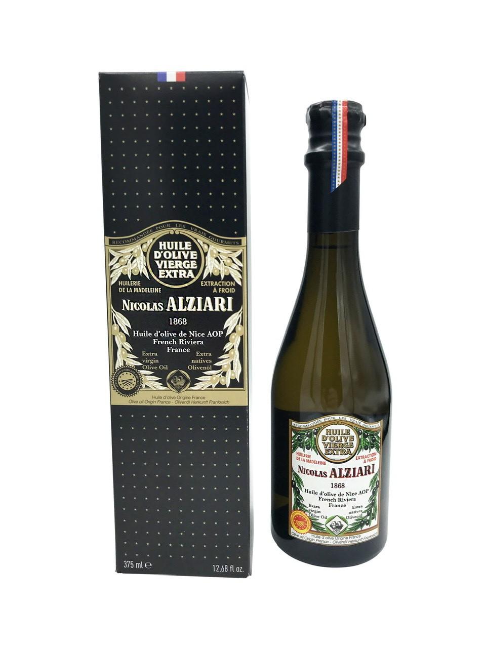 Huile d'olive de Nice AOP Nicolas Alziari Flacon CLUB 375 ml