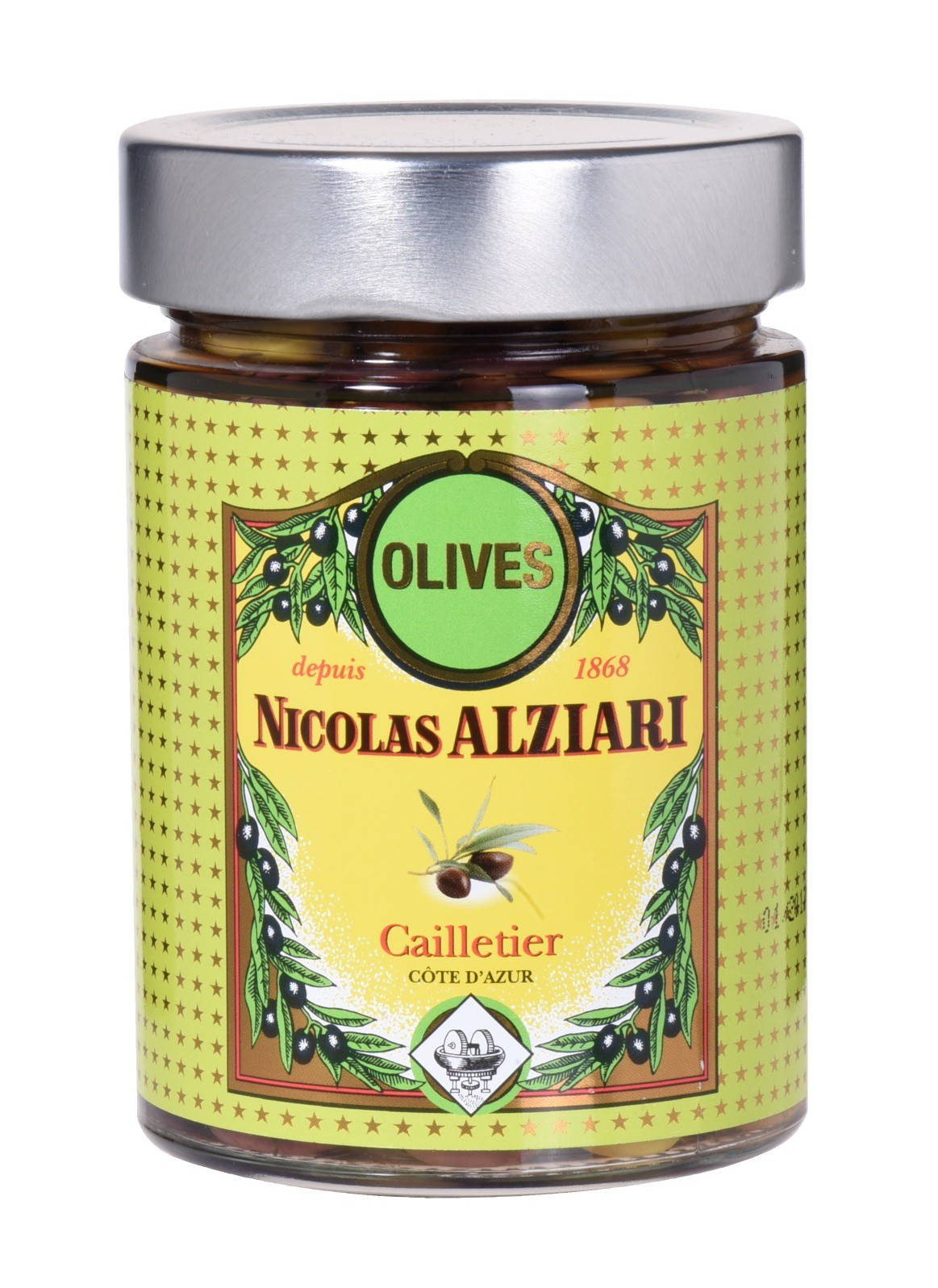 "jar of ""cailletier olives"" 220 gr"