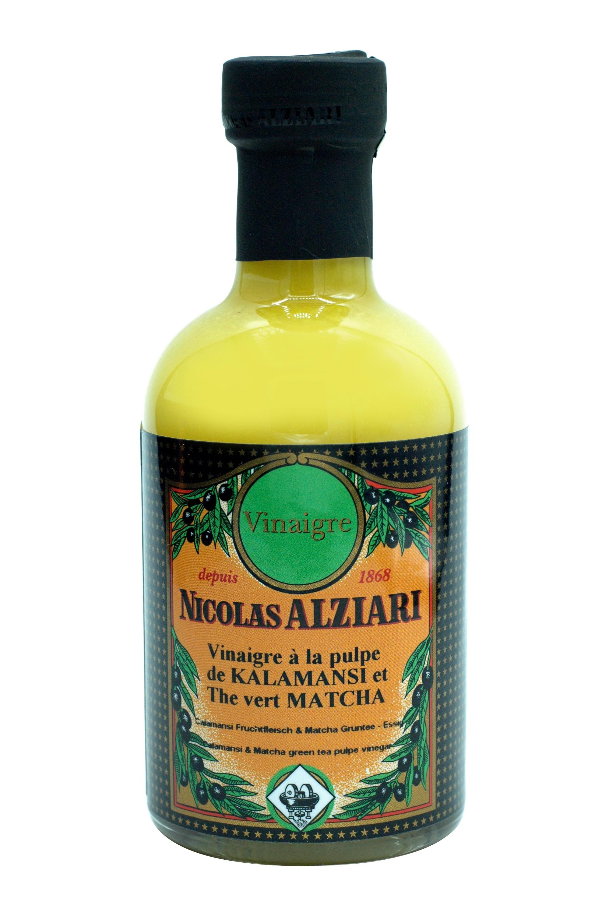 200 ml bottle Calamansi & Matcha green tea pulpe vinegar