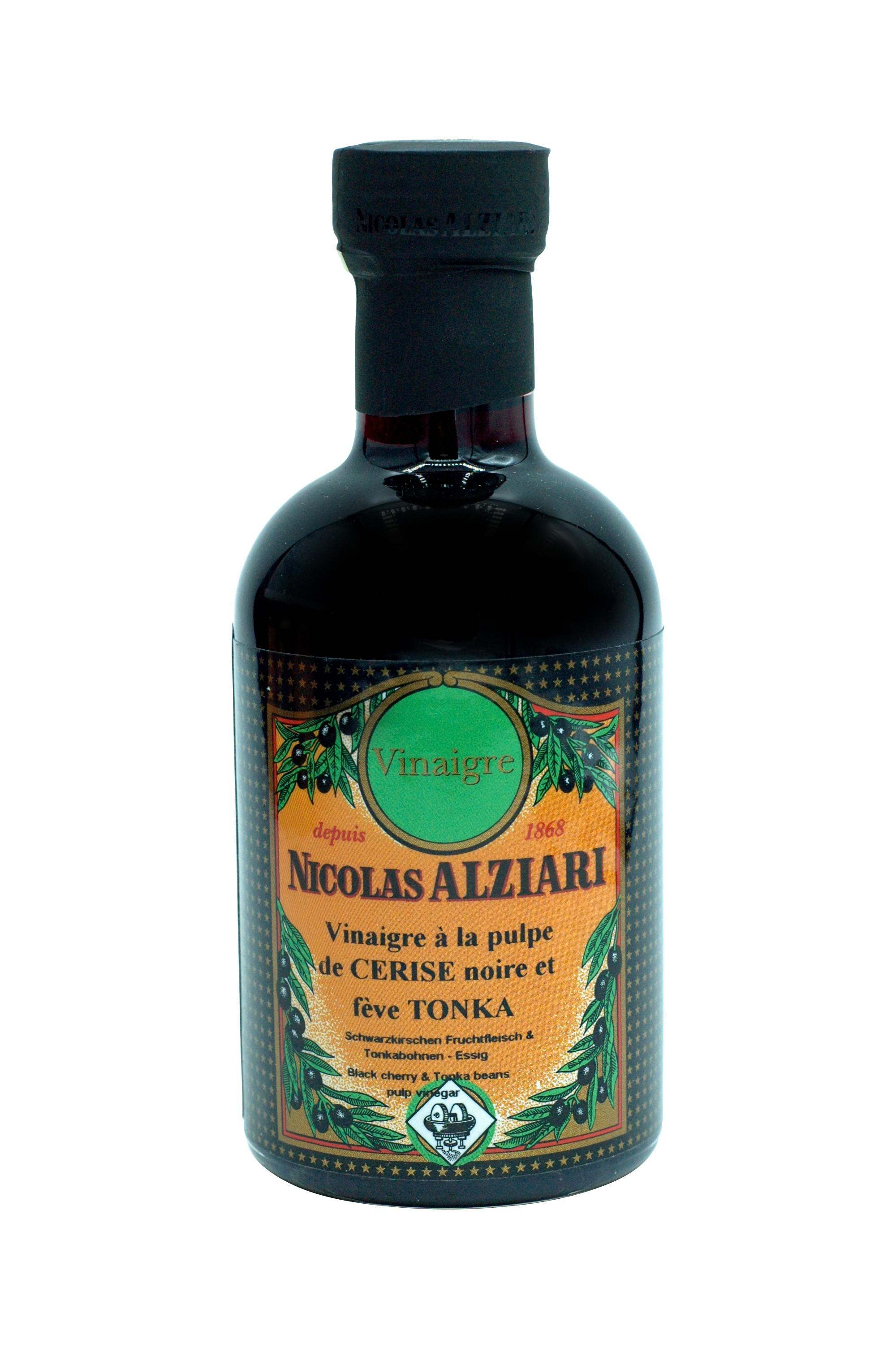 200 ml bottle black cherry & Tonka beans pulp vinegar