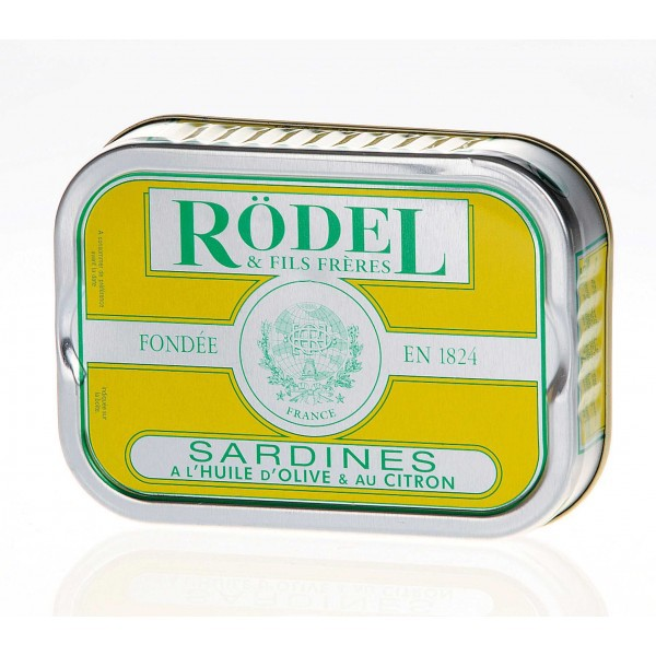 Sardines with olive oil and lemon 115gr - Rodel