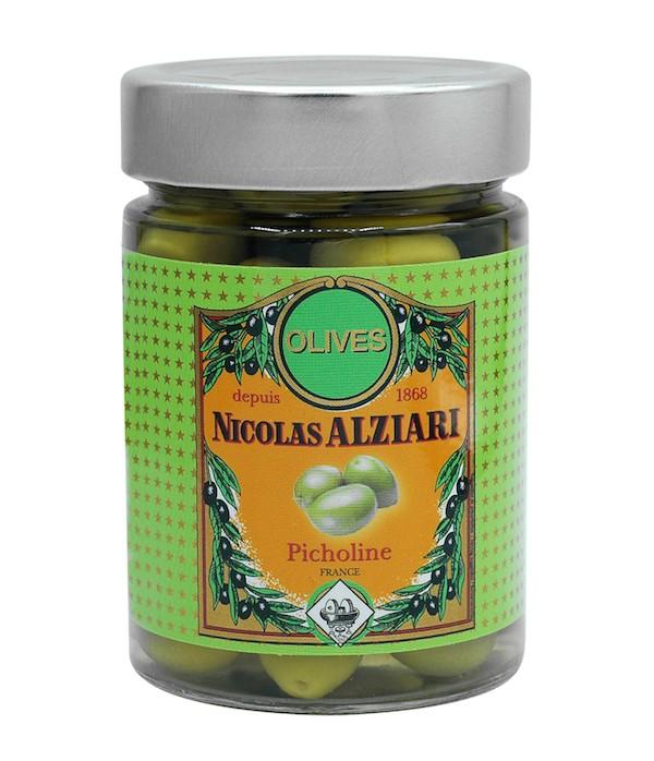Green Picholine olive jar 200 g