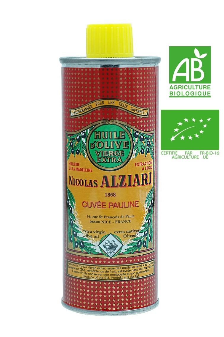 OLIVE OIL NICOLAS ALZIARI CUVÉE PAULINE 250 ML - Organic*
