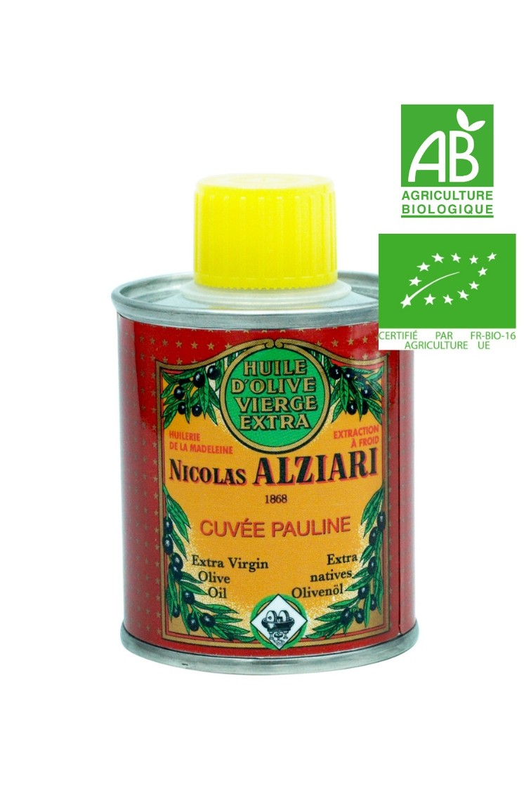 OLIVE OIL NICOLAS ALZIARI CUVÉE PAULINE 100 ML (Tin) - Organic*