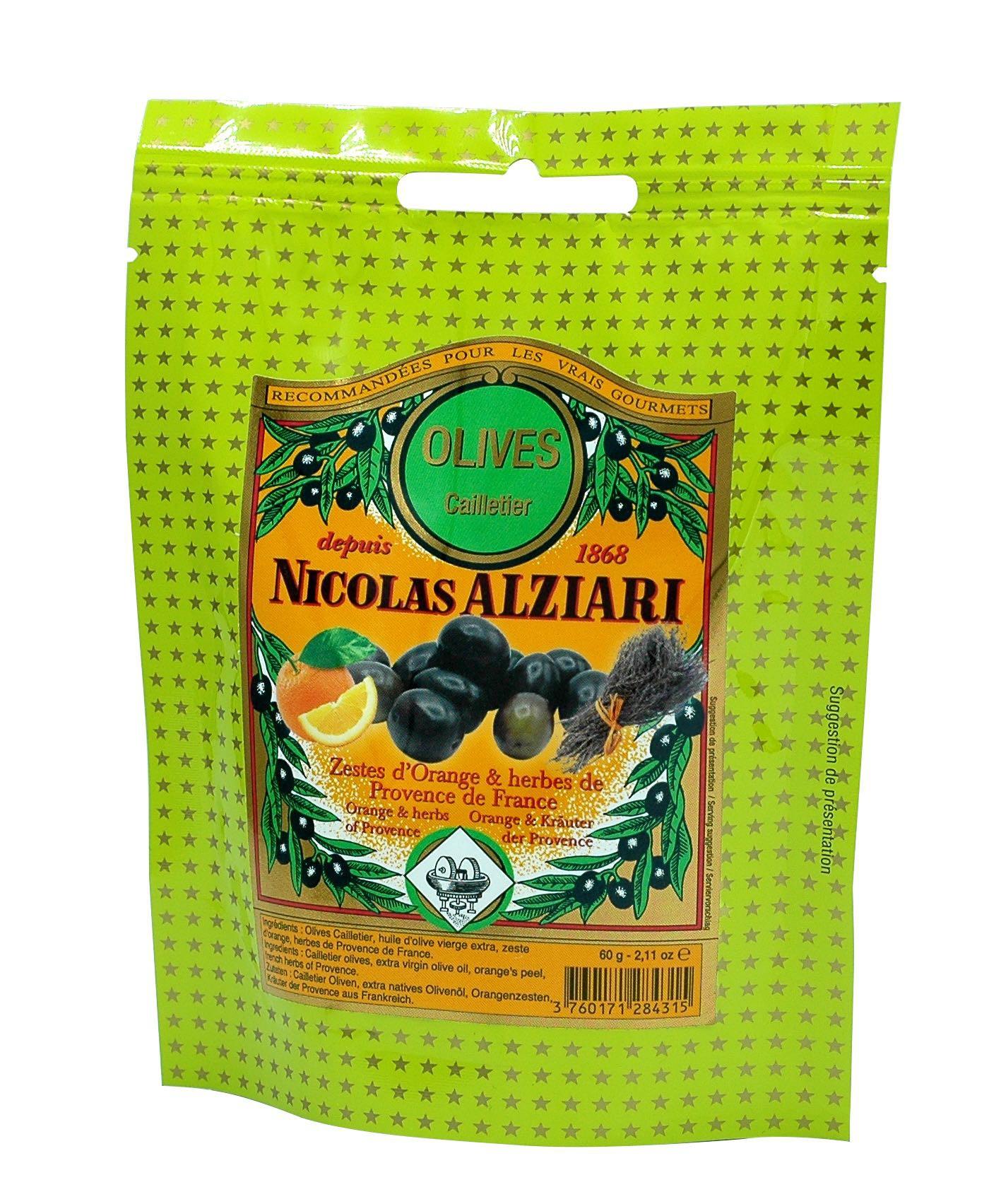 Olives : oil, orange's peel, Herbs of Provence 60g