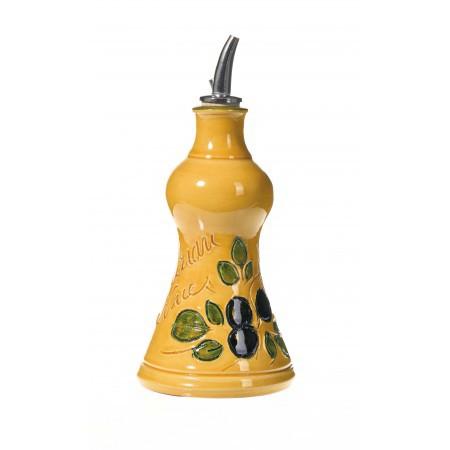 Huilier Pyramide jaune 15 cm (poterie de Vallauris)