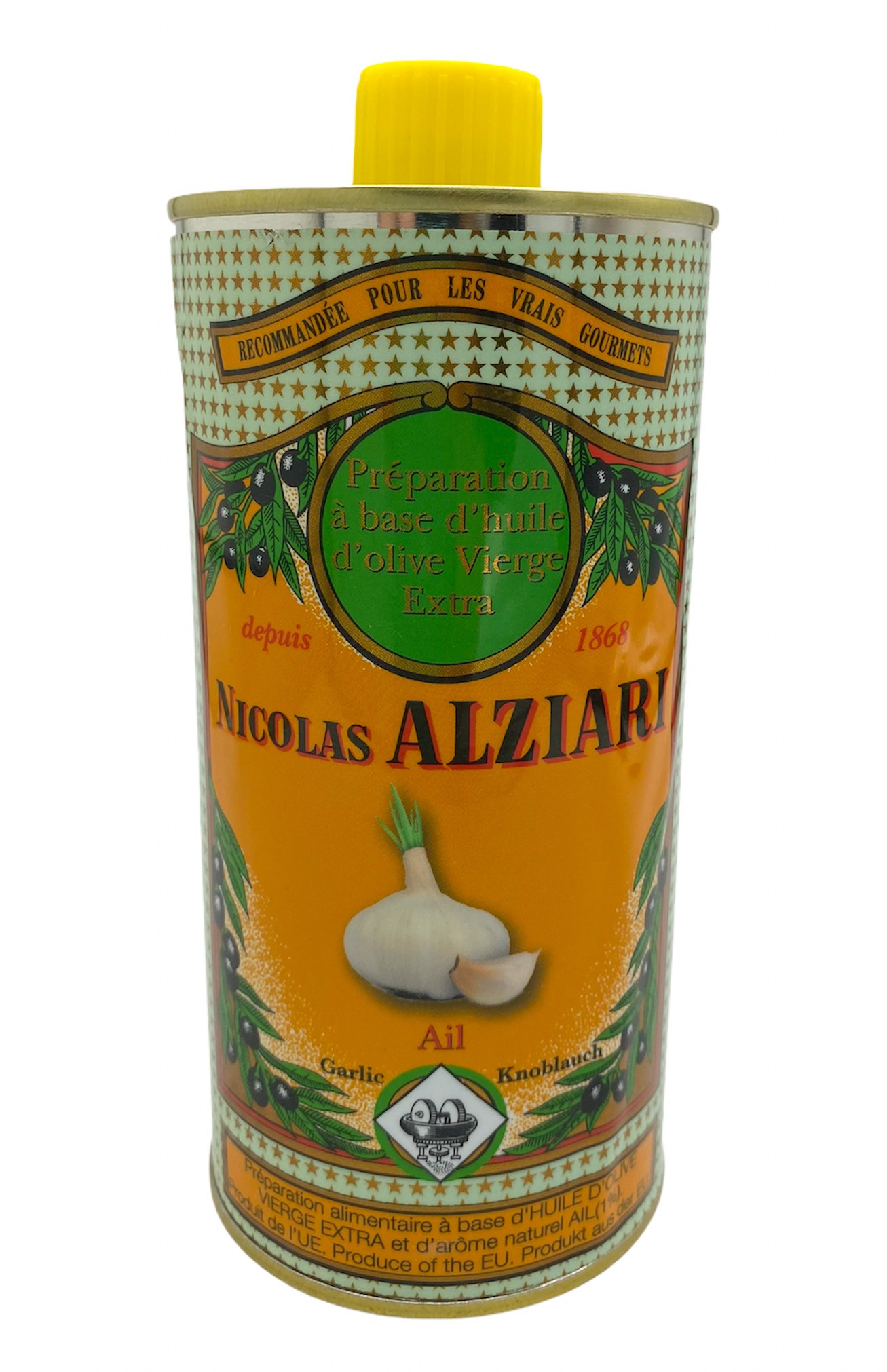 GARLIC - Food preparation based on olive oil and natural GARLIC flavour 500ml
