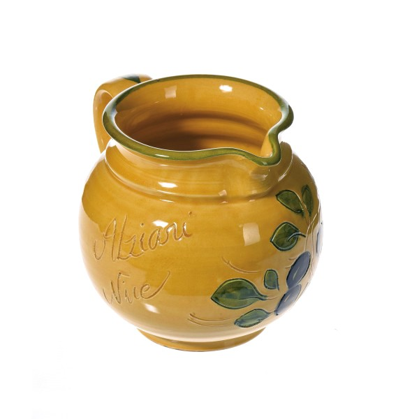 Pichet à eau jaune (poterie de Vallauris) 14 cm