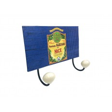 Porte manteau vintage Huile d'olive Nicolas Alziari Nice - 2 crochets (métal)