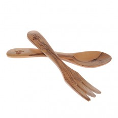 Cutlery in olive wood 17 cm 3 teeth