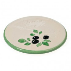 Repose plat blanc 21,5 cm (poterie de Vallauris)