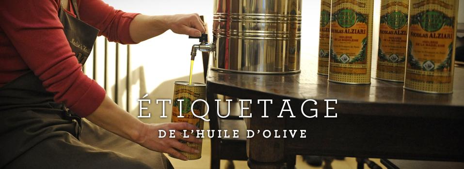 Etiquetage des huiles